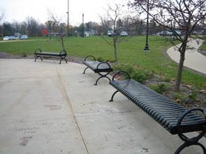 image of bench on concrete